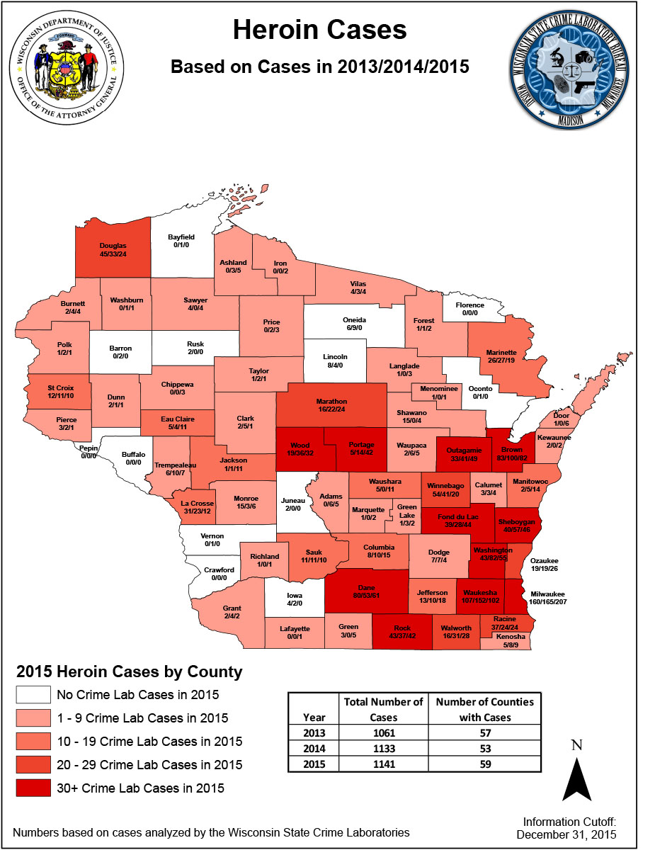 Cases By County Wisconsin Department Of Justice - Us crime map by county